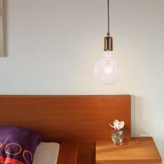 Leuchtenpendel  Spark1 Black inkl. LED Globe Leuchtmittel