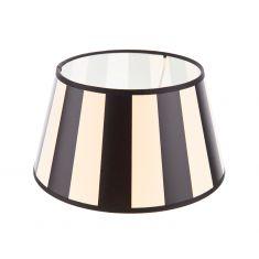 Leuchtenschirm aus Stoff in Creme mit schwarzen Streifen rund  Ø 25cm Aufnahme unten E27
