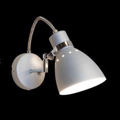 Leuchtenserie im Retrodesign - Wandleuchte  - Stahl - Stahlfarbig 1x 75 Watt, stahlfarbig