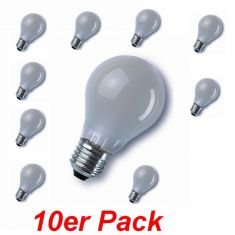 E27 40W matt, A60 im 10er Pack 10x 40 Watt, 40 Watt, 415,0 Lumen