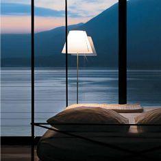 Luceplan Stehleuchte Costanza, höhenverstellbar, alu oder schwarz - ohne Schirm