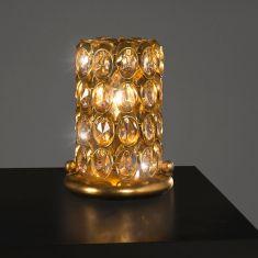 Luxuriöse Tischleuchte - Handgefertigt in Italien - Blattgold  - Kristallglas