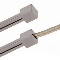 Magnetline Endkappe aus Metall in silbermatt oder chrom mit oder ohne Loch für Einspeisung