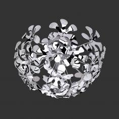 Moderne Deckenleuchte in Chrom - Acrylblüten - inklusive 3x G9 Halogenleuchtmittel 28 Watt
