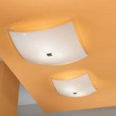 Moderne Deckenleuchte für klares helles Licht - 38x38cm 2x 60 Watt, 14,00 cm, 38,00 cm, 38,00 cm