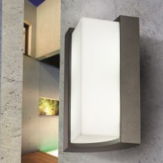 Moderne LED Wandleuchte in anthrazit oder weiß bestellbar
