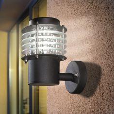 Moderne LED Wandleuchte in schwarz eloxiert