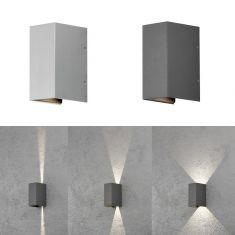 Moderne LED-Außenwandleuchte Up & Downlight