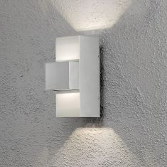 Moderne LED-Außenwandleuchte - Aluminium - Up & Downlight - Verstellbarer Lichtaustritt - LED 3 x 3 Watt