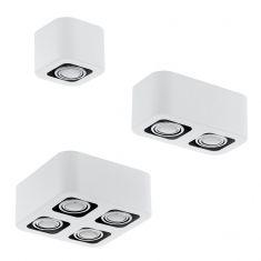 Moderne LED-Aufbauleuchte mit Stahl in weiß und chrom