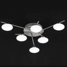 Moderne LED-Deckenleuchte Everett, 6-flammig 6x 3 Watt, 10,00 cm, 57,00 cm