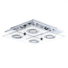 Moderne LED-Deckenleuchte quadratisch inkl. 4 Leuchtmitteln - 29 x 29 cm