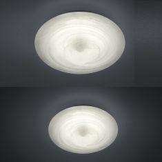 Moderne LED-Deckenleuchte - Glas alabasterfarbig Weiß - Dimmbar - Inklusive LED - 2 Größen
