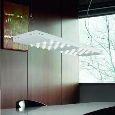Moderne LED-Pendelleuchte aus Metall - wählbar in 6 Farben