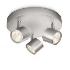 Moderne LED-Spotserie - 3-flammiger Deckenstrahler - Aluminium aluminiumfarben