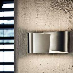 Moderne LED-Wandleuchte aus Edelstahl von Holtkötter