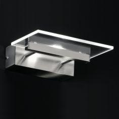 Moderne LED-Wandleuchte - Inklusive 1 x Citzen Power LED - Nickel matt/Chrom