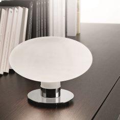 Moderne Tischleuchte Chromgestell - mit Touchdimmer