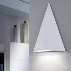 Moderne Wandleuchte in Weiß mit sparsamer LED-Technik - inklusive Leuchtmittel