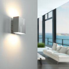 Moderne Wandleuchte - 1-flammig - Nickel-matt - Inklusive LED 1 x 4 Watt  3000Kelvin  420 Lumen