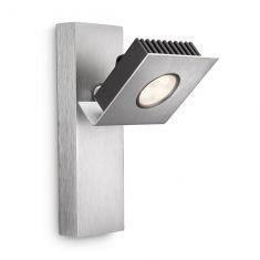 Moderner LED-Spot-Serie - Wandspot 1-flammig - Aluminium - Aluminiumfarbig aluminiumfarben