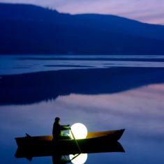 Moonlight Netzunabhängige Akku-Kugelleuchte - mit Schalter