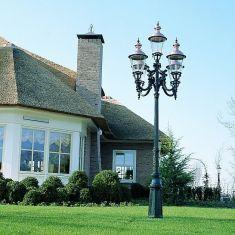 Nostalgische Laterne in höchster Qualität mit Kupferdächern - dunkelgrün lackiert