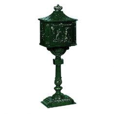 Nostalgischer Stand-Briefkasten dunkelgrün