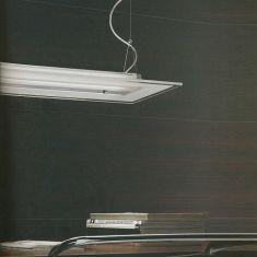Pendelleuchte aus geschliffenem Glas, in drei Längen wählbar
