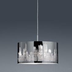 Pendelleuchte aus Metall mit dekorativem Edelstahl-Laser-Cut inklusive 2x 4W E14 LED Kerze