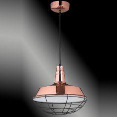 Pendelleuchte Copper aus Metall in kupfer poliert