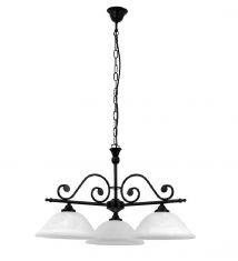 Pendelleuchte Dorothea 3-flammig im Landhausstil mit weißem Alabasterglas