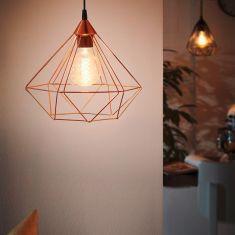 Pendelleuchte im geometrischen Design, Ø 32,5cm - 1flammig