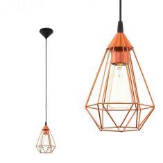 Pendelleuchte geometrisches Design, 17,5cm - in kupferfarbig kupfer