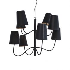 Pendelleuchte Hercules mit schwarzen Lampenschirmen