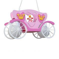 Pendelleuchte Kutsche mit Prinzessin Leia in rosa