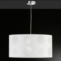 Pendelleuchte 50 cm mit Ausbrenner-Dekor, Weiß 1x 75 Watt, weiß