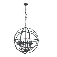 Pendelleuchte Orbit 6-flammig aus Metall in 3 Oberflächen