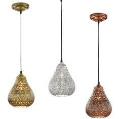 Pendelleuchte im orientalischen Stil aus Metall - Ø 19cm