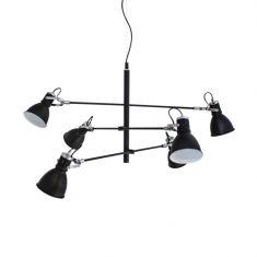 Pendelleuchte Pigalle mit schwenkbaren Lampenschirmen