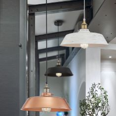 Pendelleuchte Vintage inklusive Edison Glühbirne