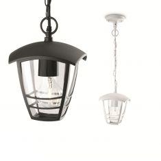 Pendelleuchte in Weiß oder Schwarz mit klarem Acrylglas