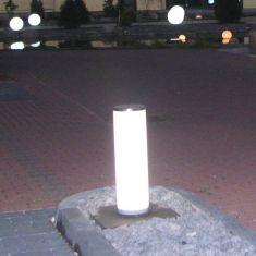 Pollerleuchte Lightstick aus weißem Kunststoff Höhe 29cm