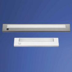 Praktische Mini-Anbauleuchte - Kunststoff - Inklusive Schalter -  Silber - 1 x 13 Watt 1x 13 Watt, silber, 55,50 cm