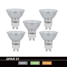 QPAR51 Halopar 28W 230V GU10, 5er Set