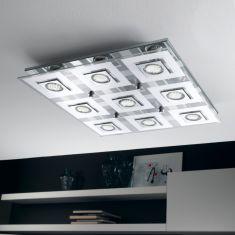 Quadratische LED-Deckenleuchte inklusive 9 Leuchtmitteln - 47 x 47 cm