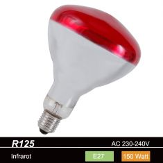 R125 Reflektor Infrarotstrahler  E27  150W oder 200W
