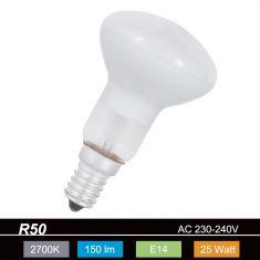 R50 Reflektorlampe E14, 25 Watt, Abstrahlwinkel 60°