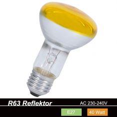 R63 Reflektor 40W E27  in Gelb 1x 40 Watt, gelb