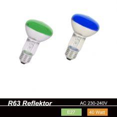 R63 Reflektor 40W E27  in verschiedenen Farben